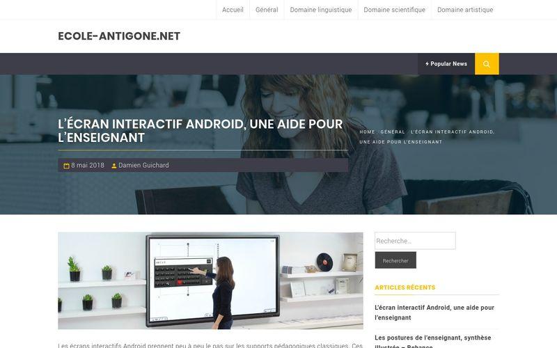 L'écran interactif Android, une aide pour l'enseignant