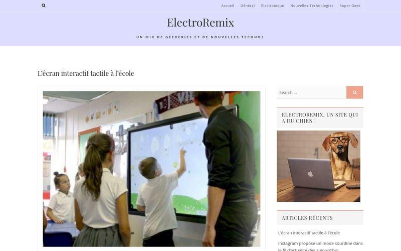 L'écran interactif tactile à l'école