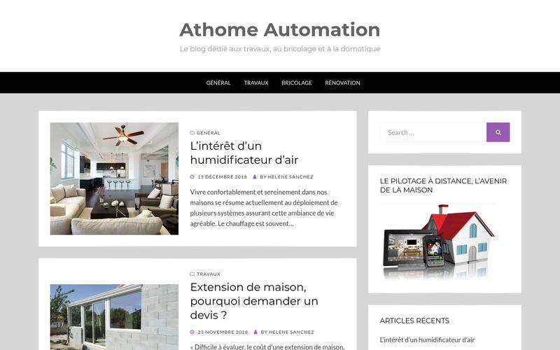 Athome Automation - Le blog dédié aux travaux, au bricolage et à la domotique
