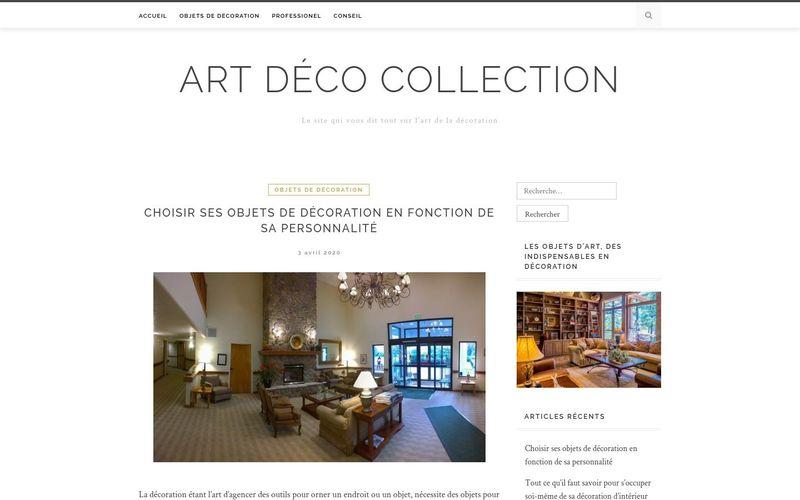 Art déco collection - Le site qui vous dit tout sur l'art de la décoration