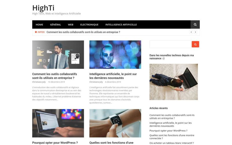 HighTi - High Tech, Web et Intelligence Artificielle